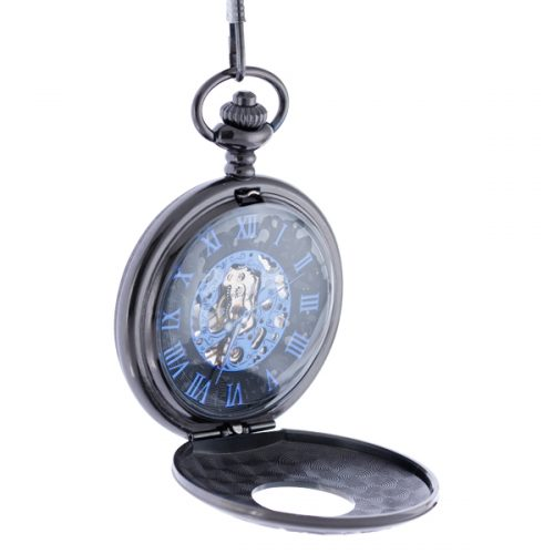 Black and Blue Pocket Watch
