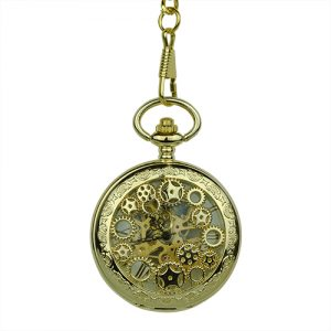 Gold Steampunk Half Hunter Pocket Watch