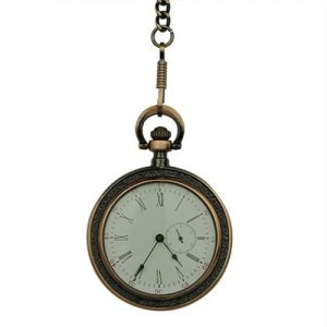 Brass Victorian Open Face Pocket Watch
