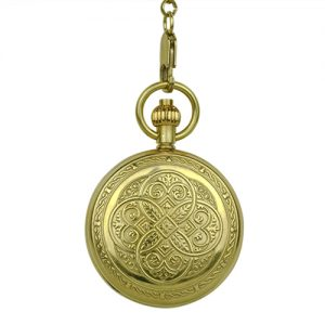 Gold Greek Emblems Fob Watch