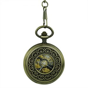 Gold Greek Symbol Half Hunter Pocket Watch