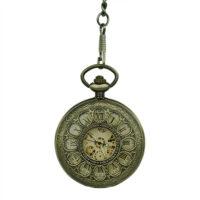 Brass Dial Half Hunter Fob Watch