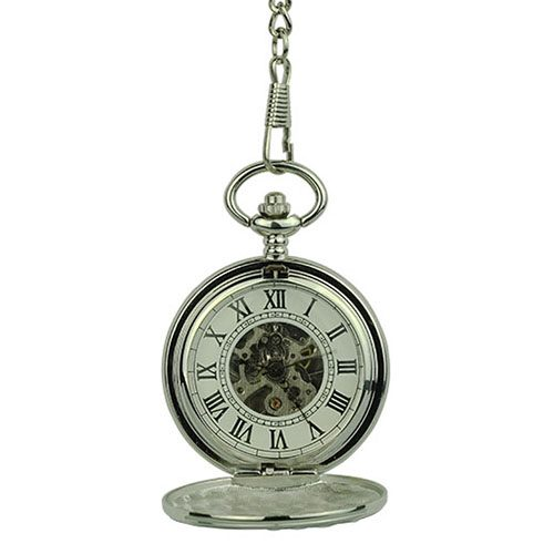 Silver Victorian Double Hunter Fob Watch