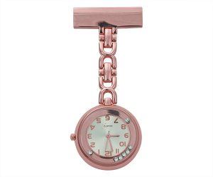 Rose Gold Nurses Watch